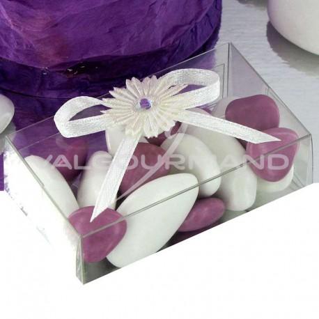 Boîtes tranparentes Flore - 10 pièces
