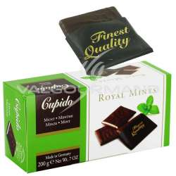 Plaquettes de chocolat Noir à la crème de menthe - 200g