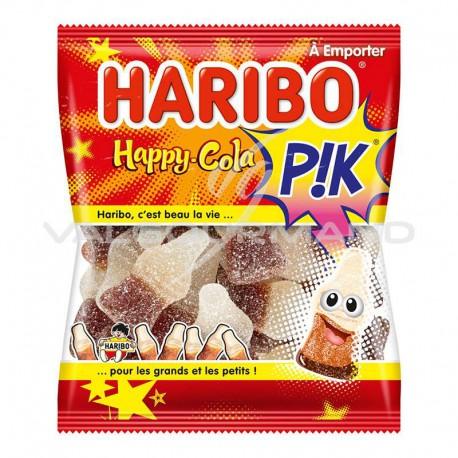 Bouteilles Happy cola pik HARIBO 120g - 30 sachets (soit 0.99€ la sachet !)