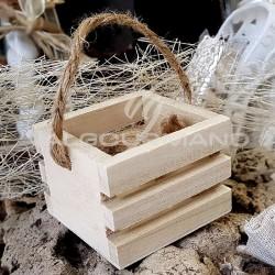Cagette mini en bois avec anse - pièce