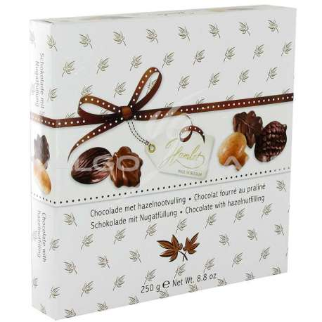 Assortiment chocolats fourrés praliné - 250g