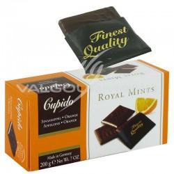 Plaquettes de chocolat Noir, menthe et orange - 200g en stock