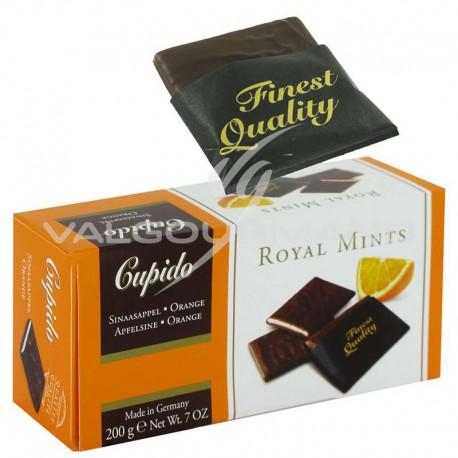 Plaquettes de chocolat Noir, menthe et orange - 200g