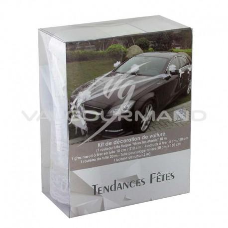 Décorations pour voiture Luxe BLANC - le kit