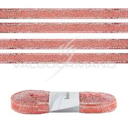 Ruban aspect ROSE GOLD métallisé - le sachet de 10 mètres en stock