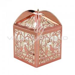 Boîtes dentelle ROSE GOLD métallisé - 10 pièces en stock