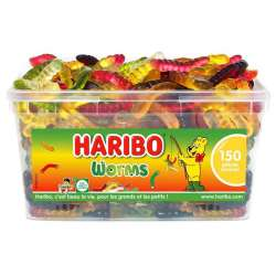 Worms HARIBO - tubo de 150 en stock