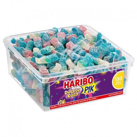 Bouteilles Purple cola pik HARIBO - tubo de 150