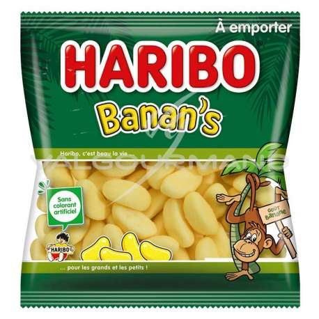Bananes Banan's HARIBO 120g - 30 sachets (0.99€ le sachet !)