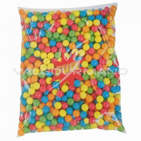 Billes de chewing gum taille moyenne 17mm - 2,5kg