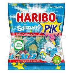 Schtroumpfs pik HARIBO 120g - 30 sachets (0.99€ le sachet !) en stock