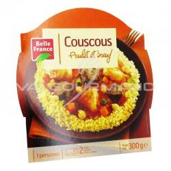 Barquettes couscous poulet boeuf 300g Belle France - lot de 7 plats cuisinés en stock