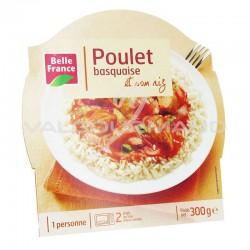Barquettes poulet basquaise 300g Belle France - lot de 8 plats cuisinés en stock