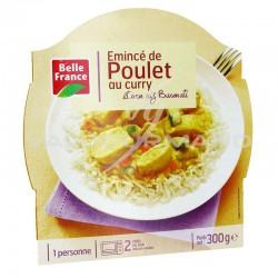 Barquettes émincé de poulet au curry riz 300g Belle France - lot de 8 plats cuisinés en stock