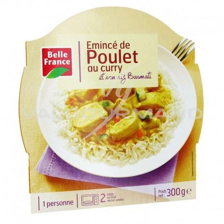 Barquettes émincé de poulet au curry riz 300g Belle France - lot de 8 plats cuisinés