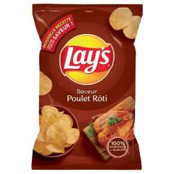Chips Lay's poulet thym 75g - 15 paquets en stock