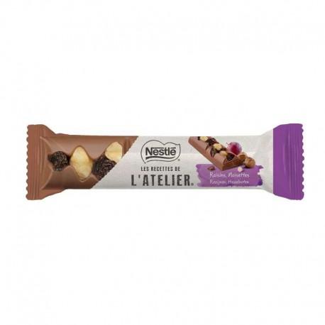 Barres Les Recettes de l'Atelier raisin noisette Nestlé 30g - boîte de 24