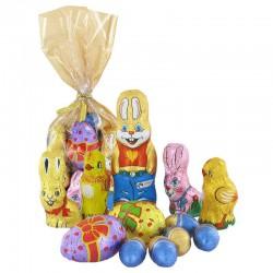 """Sachet spécial """"chasse aux oeufs"""" - 12 figurines de Pâques en stock"""