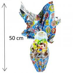 Oeuf maxi en chocolat au lait - 350g - 50cm en stock