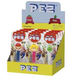 Pez figurines Mario Nintendo + 1 recharge - le lot de 12 en stock