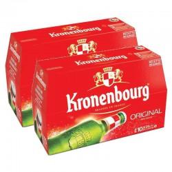 Kronembourg bouteille en verre 25cl - Lot de 2 packs de 10