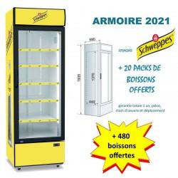 Armoire réfrigérée Schweppes + 480 boissons Offertes !