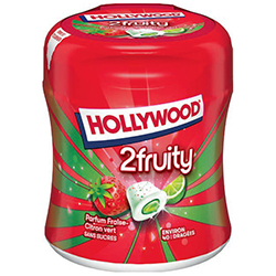 Bottle Hollywood 2fruity citron/fraise SANS SUCRES - les 6x40 dragées