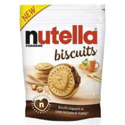 Nutella Biscuits fourrés choco - sachet de 304g en stock
