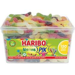 Worms pik HARIBO - tubo de 150 en stock