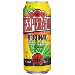 Desperados tequila boîte 50 cl (en 6 packs x4) en stock