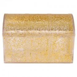 Boîte coffre pailleté OR - pièce en stock