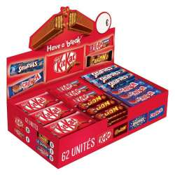 Chocobox Nestlé - 62 barres assorties en stock