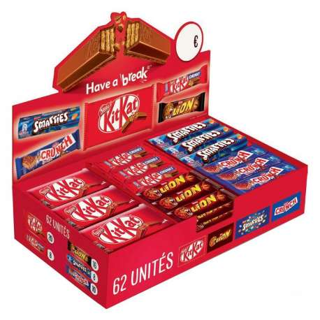 Chocobox Nestlé - 62 barres assorties