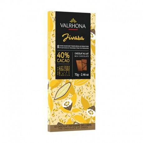 Chocolat Jivara 40% Valrhona - tablette de 70g