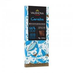 Chocolat Caraïbe 66% Valrhona - tablette de 70g