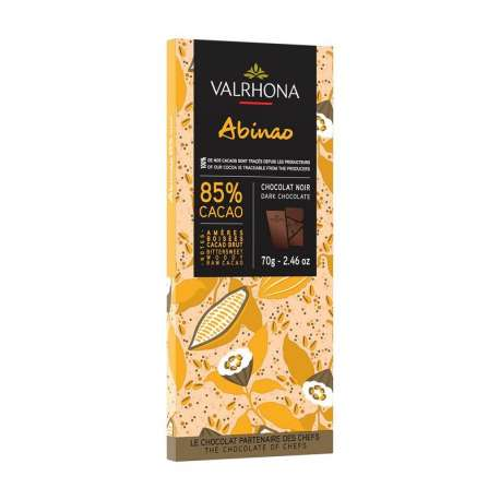 Chocolat Abinao 85% Valrhona - tablette de 70g