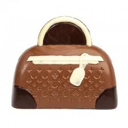 Coffret sac à main en chocolat au lait décoré - 145g en stock