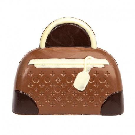 Coffret sac à main en chocolat au lait décoré - 145g