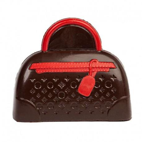 Coffret sac à main en chocolat noir décoré - 145g