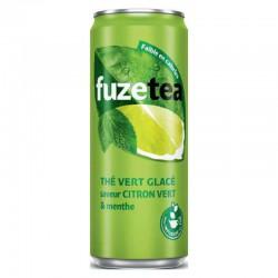 Fuze tea citron vert menthe boîte slim 33cl - pack de 24 en stock