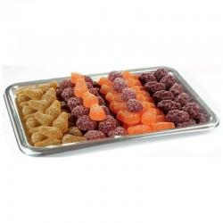 Pâtes de fruits forme fruits assorties sur plateau 1,3kg en stock