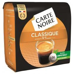Dosettes Carte Noire classique n°5 (36 dosettes) - les 10 paquets en stock