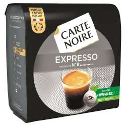 Dosettes Carte Noire Expresso n°8 (36 dosettes) - les 10 paquets en stock