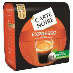 Dosettes Carte Noire Expresso n°11 (36 dosettes) - les 10 paquets en stock