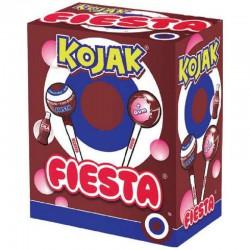 Sucettes Fiesta Kojak gum Cola - boîte de 100