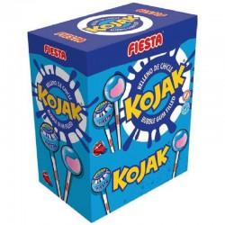 Sucettes Fiesta Kojak gum Mûre (colorent la langue) - boîte de 100