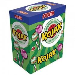 Sucettes Fiesta Kojak gum Pastèque - boîte de 100