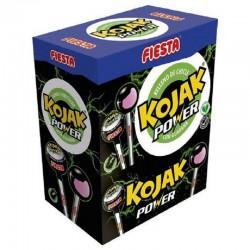 Sucettes Fiesta Kojak gum Power Energy - boîte de 100