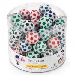 Ballons de Foot en chocolat 12g - boite de 60 en stock