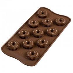 Moule pour 11 chocolats Choco Crown 3 Silikomart en stock